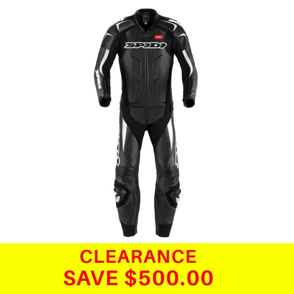 SUPERSPORT TOURING LEATHER SUIT BLACK (2PC) BLACK WHITE
