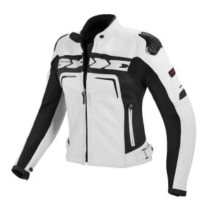 Evorider Ladies Leather White Jacket