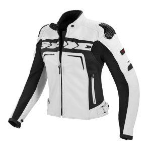 Evorider Ladies Leather White Jacket