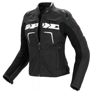 Evorider Ladies Leather Black/White Jacket